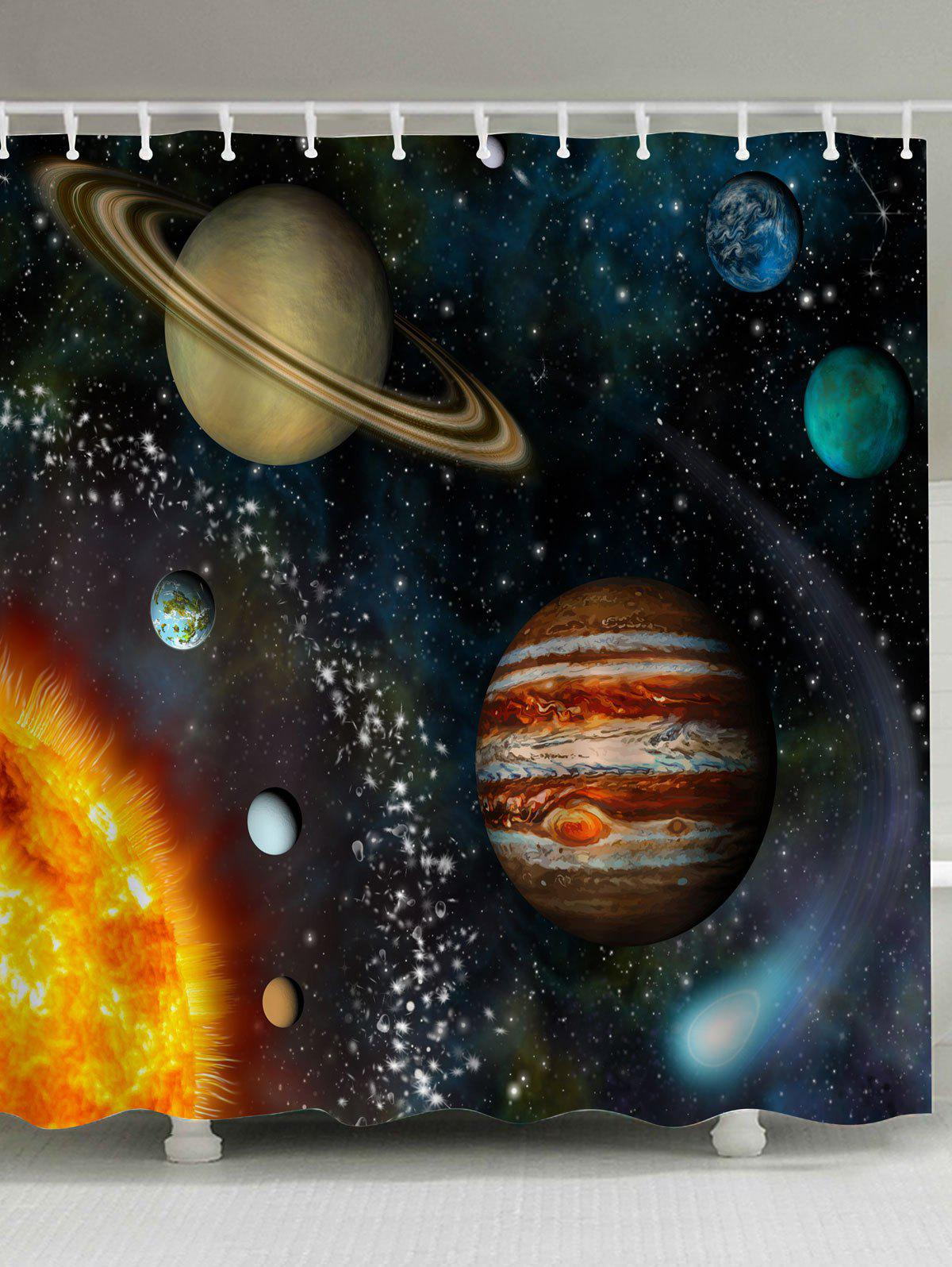 Shops Mildewproof Galaxy Planet Shower Curtain