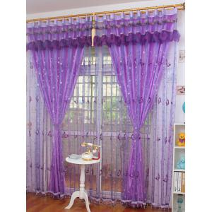 Beads Butterfly Sequin Sheer Window Curtain -