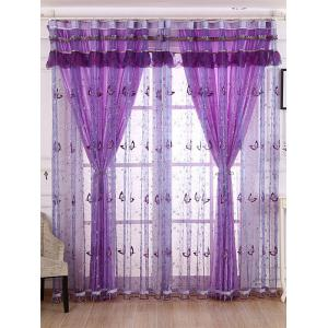 Beads Butterfly Sequin Sheer Window Curtain
