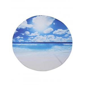 Seascape Printed Chiffon Beach Throw - Blue - 150*150cm