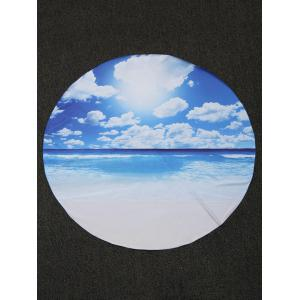 Seascape Printed Chiffon Beach Throw -