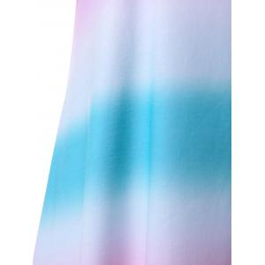 Ombre Handkerchief Hem Sleeveless Dress - MULTI XL