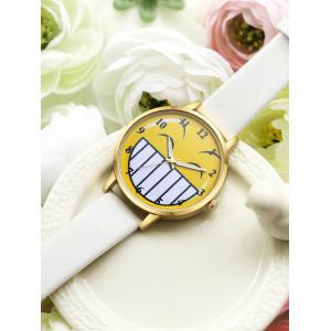 Cartoon Emoticon Smile Face Number Watch -