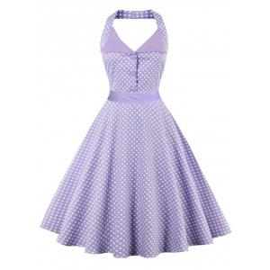 Halter Polka Dot Vintage Dress