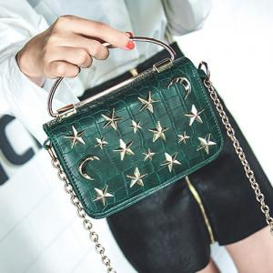 Star and Moon Rivet Crossbody Bag -