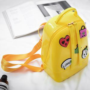 Top Handle Patches Jelly Backpack -
