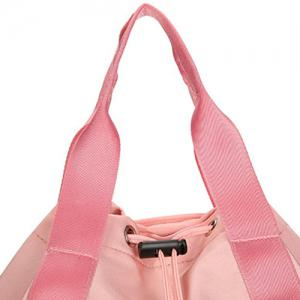 Top Handle Drawstring Canvas Backpack -