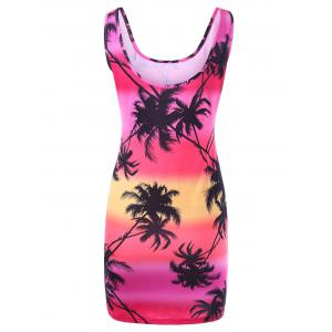 Coconut Palm Slinky Dress - COLORMIX XL