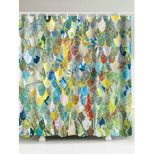 Art Fish Scale Fabric Unique Shower Curtain - Colormix - W71inch * L79inch