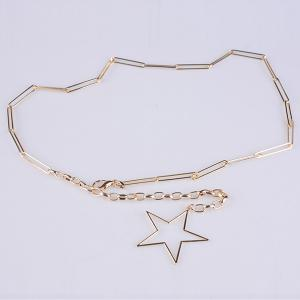 Hollow Out Pentagram Link Chain Ceinture -