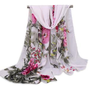Floral Blossom Wash Painting Shawl Scarf