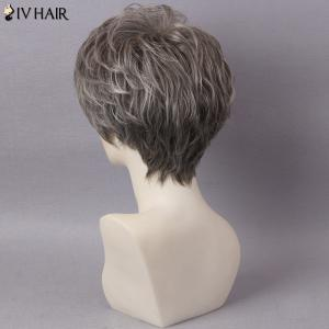 Siv Hair Short Layered Colormix Inclined Bang Straight Human Hair -
