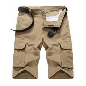 Summer Zipper Cargo Shorts - Khaki - 38