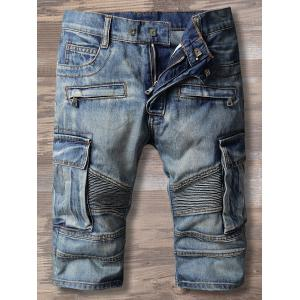 Five Minute Multi Pockets Denim Shorts