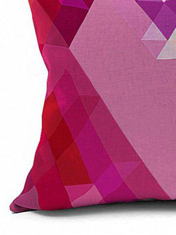 Fancy Geometric Heart Shaped Cushion Cover Pillow Case - 18*18INCH PINK Mobile