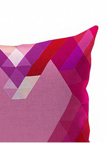 Sale Geometric Heart Shaped Cushion Cover Pillow Case - 18*18INCH PINK Mobile