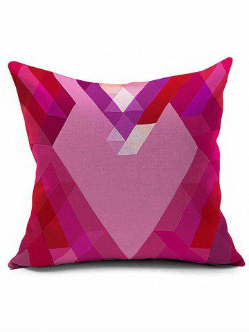Best Geometric Heart Shaped Cushion Cover Pillow Case - 18*18INCH PINK Mobile