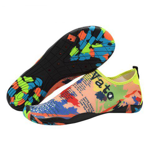 Fancy Outdoor Graphic Breathable Skin Shoes - 36 FLORAL Mobile
