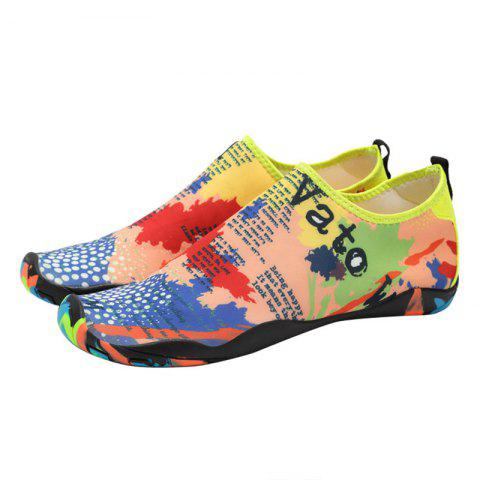 Sale Outdoor Graphic Breathable Skin Shoes - 36 FLORAL Mobile