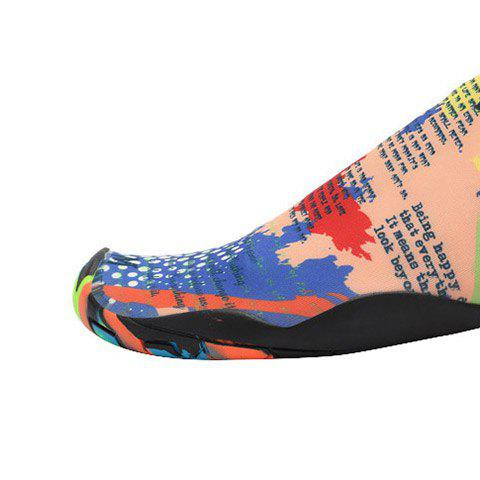 Shop Outdoor Graphic Breathable Skin Shoes - 36 FLORAL Mobile