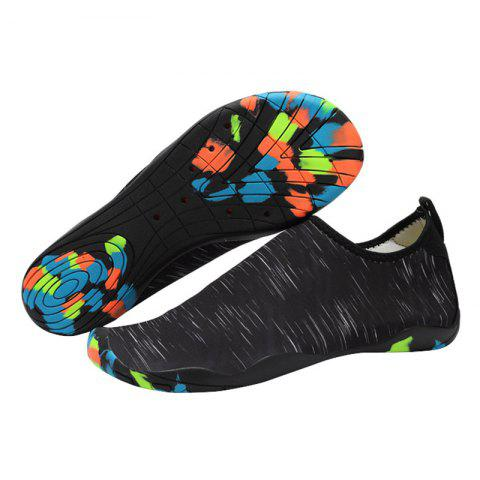 Unique Outdoor Graphic Breathable Skin Shoes - 43 BLACK Mobile