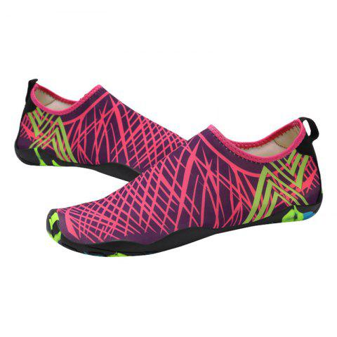 Discount Outdoor Graphic Breathable Skin Shoes - 43 ROSE RED Mobile