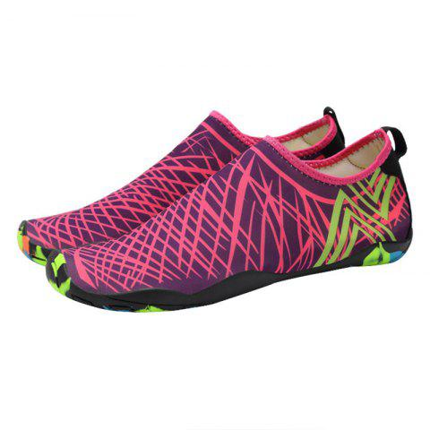 Fancy Outdoor Graphic Breathable Skin Shoes - 43 ROSE RED Mobile