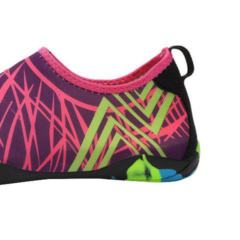 Outfits Outdoor Graphic Breathable Skin Shoes - 43 ROSE RED Mobile