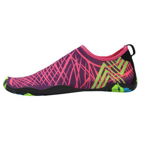 Fancy Outdoor Graphic Breathable Skin Shoes ROSE RED 39