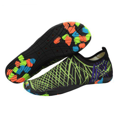 Online Outdoor Graphic Breathable Skin Shoes - 43 GREEN Mobile