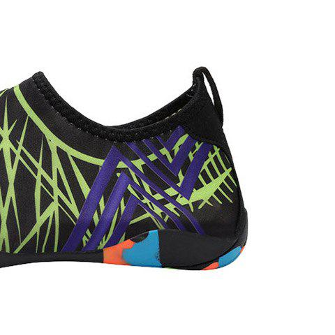 Unique Outdoor Graphic Breathable Skin Shoes - 43 GREEN Mobile