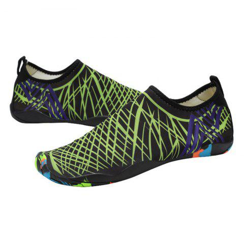 Discount Outdoor Graphic Breathable Skin Shoes - 43 GREEN Mobile