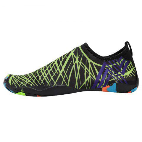 Fashion Outdoor Graphic Breathable Skin Shoes GREEN 37