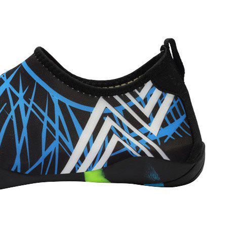Chic Outdoor Graphic Breathable Skin Shoes - 43 BLUE Mobile