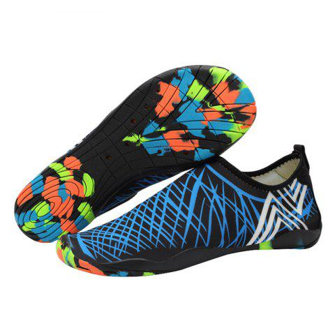 Best Outdoor Graphic Breathable Skin Shoes - 43 BLUE Mobile