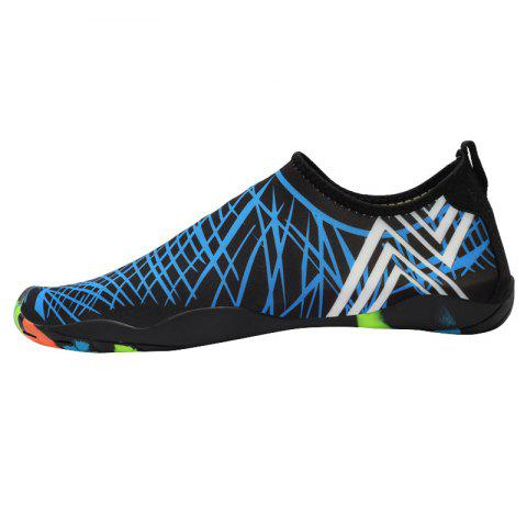 Outdoor Graphic Breathable Skin Shoes - Blue - 36