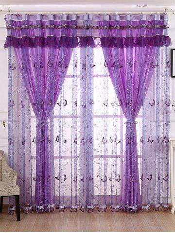 Outfits Beads Butterfly Sequin Sheer Window Curtain