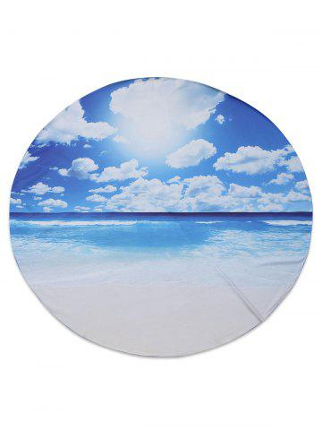 Seascape Printed Chiffon Beach Throw - BLUE 150*150CM