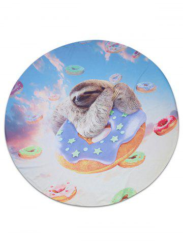 Fashion Doughnut Sloth Animal Printed Beach Throw COLORMIX 150*150CM