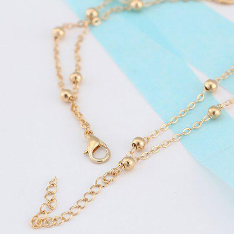 Chic Beads Faux Pearl 8 Shape Double Layered Anklet - GOLDEN  Mobile