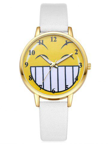Latest Cartoon Emoticon Smile Face Number Watch