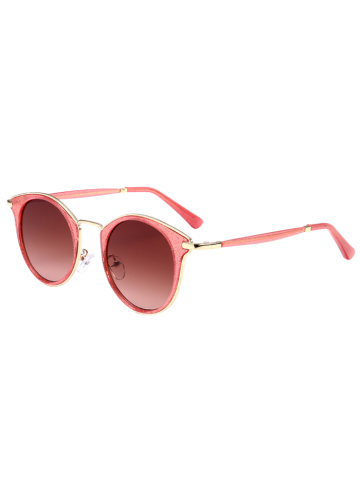 Cheap Cat Eye Ombre Metal Frame Wrap Sunglasses RED+RED