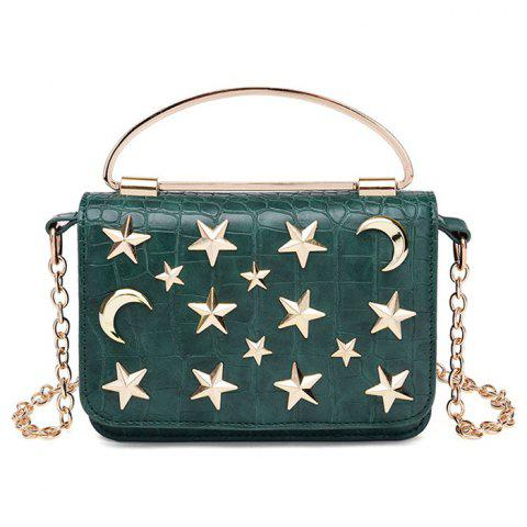 Discount Star and Moon Rivet Crossbody Bag