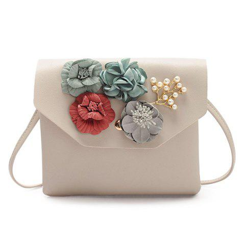 Outfit Flowers Faux Leather Crossbody Bag