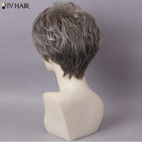 Chic Siv Hair Short Layered Colormix Inclined Bang Straight Human Hair - COLORMIX  Mobile