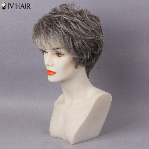 Unique Siv Hair Short Layered Colormix Inclined Bang Straight Human Hair - COLORMIX  Mobile