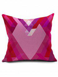 Geometric Heart Shaped Cushion Cover Pillow Case