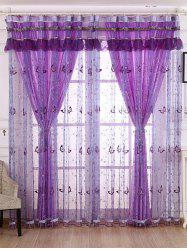 Beaded Window Sequin Sheer Window Curtain - Suède Rose