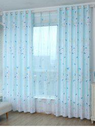 Blackout Butterfly Pattern Window Curtain