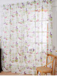 Sheer Butterfly Floral Window Curtain